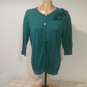 Green cotton MERONA Cardigan L
